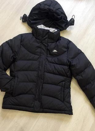 Крутая черная лыжная куртка пуховик / лыжный костюм tresspass