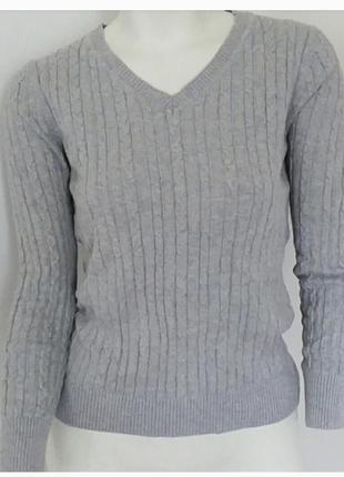 Базовий сірий светр xs h&m