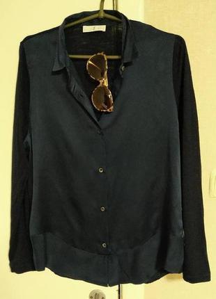 Блузка натуральный шелк и тонкая шерсть whyci milano италия оригинал