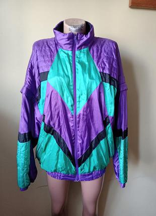 Винтажная куртка, ретро, бомбер,ветровка