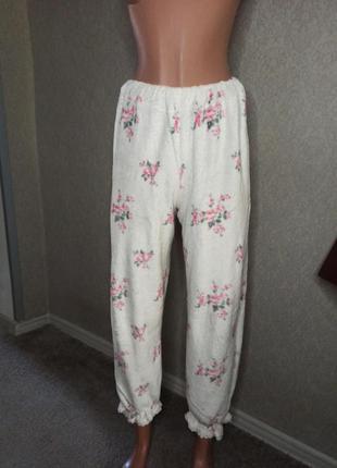 Мягкие махровые флисовые пижамные штаны m