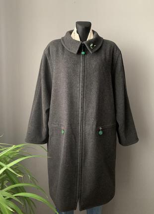 Sandra pabst дизайнерское кашемировое пальто винтаж.