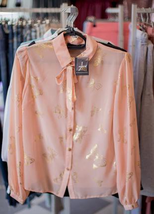 Красивая пудровая блуза от atmosphere