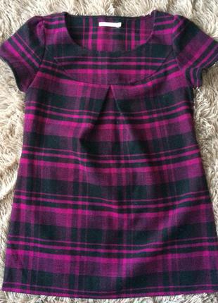 Тёплое платье трапеция lavand