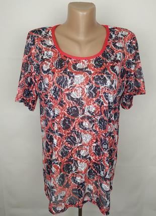 Блуза футболка красивая в принт uk 18/46/xxl