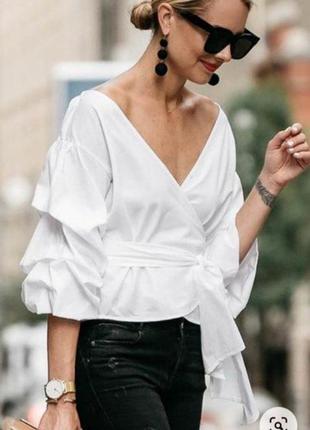 Белая рубашка на запах от new look