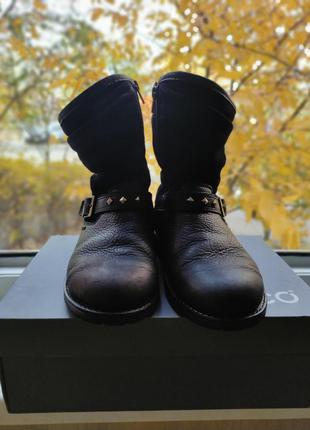 Детские кожаные сапоги ecco на gortex 36 размер