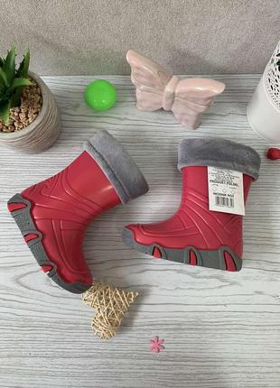 Резинові чобітки з теплими вставками 21\22 розмір