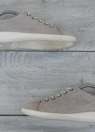 Ecco женские кожаные кроссовки серого цвета оригинал 41 размер