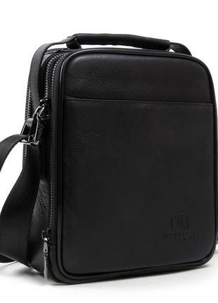 Мужская кожаная сумка-планшет bretton be 5078-5 black