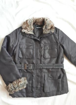 Курточка хаки с мехом
