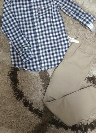 Комплект рубашка брюки картерс 8т