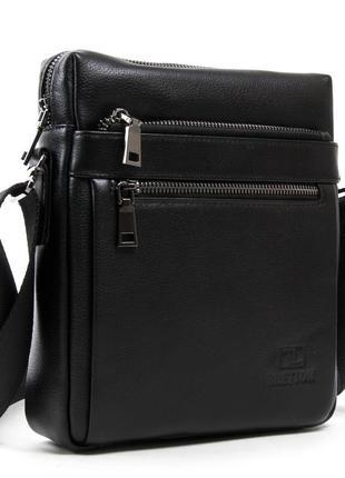 Мужская кожаная сумка-планшет bretton be n3687-4 black