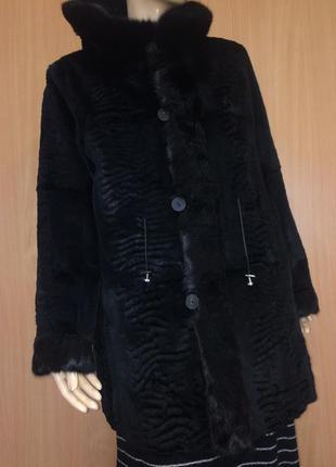Натуральный мех двухсторонняя шуба куртка