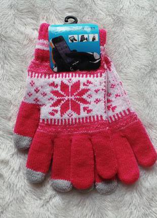 Теплые перчатки для сенсорных экранов, р-р универсальный