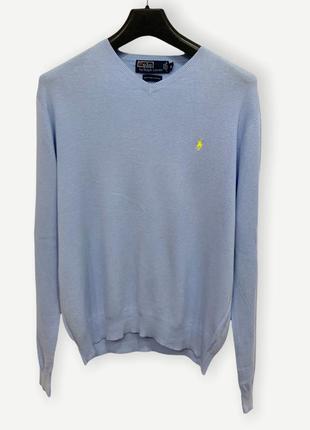 Свитер джемпер свитшот polo ralph lauren мужской голубой