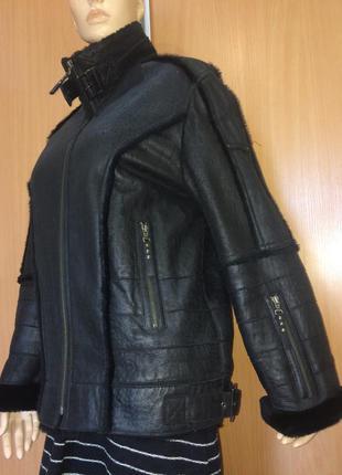 Натуральная дубленка куртка авиатор