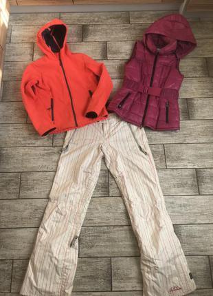 Лыжный костюм, куртка и штаны brunotti для лыж, сноуборда. размер s