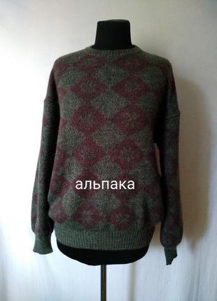 100% альпака теплый роскошный шерстяной свитер