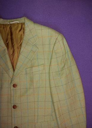 Шерстяной пиджак в клетку paolo negrato