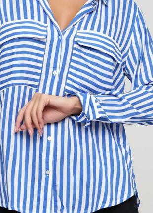 Рубашка в полоску ✨h&m✨ из вискозы