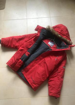 Фирменная спортивная зима куртка лыжная парка