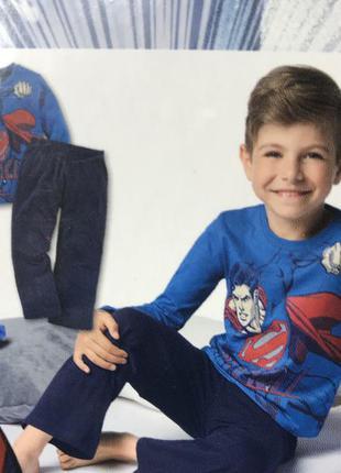 Хлопковая пижама на мальчика супер мен