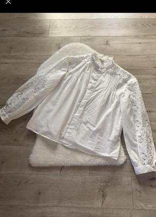 Стильна рубашка з об'ємними рукавами