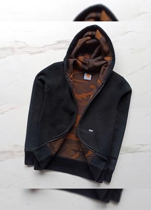 Очень крутая, тёплая, оригинальная мужская кофта с капюшоном от carhartt