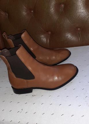 Кожаные демисезонные ботинки-ботильоны