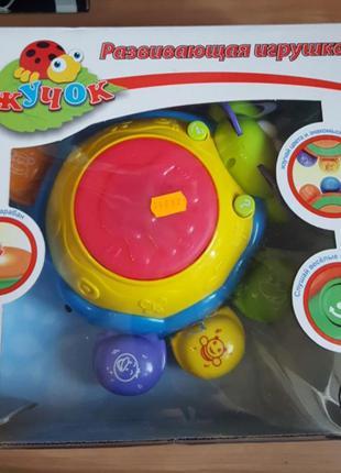 """Музыкальная игрушка """"добрый жук"""" обучение цвета, танцует, музыка, свет"""