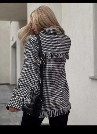 Рубашка пальто клетка шерсть