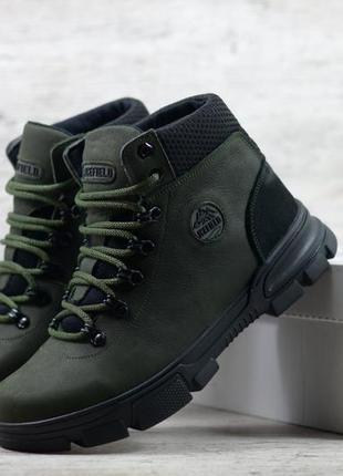 Мужские кожаные зимние ботинки icefield