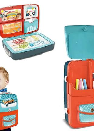 Обучающий набор для рисования backpack packing 3 в 1 голубой