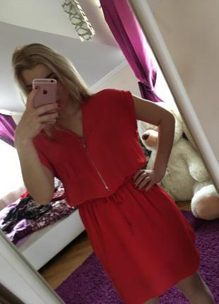 Червоне стильне плаття pimkie