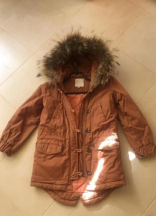 Куртка парка фирменная испания натуральный мех