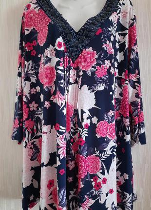 Блуза туника большого 24/52 размера