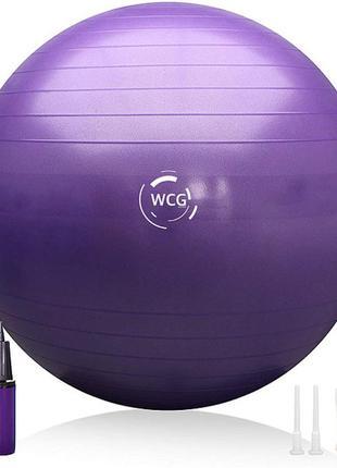 М'яч для фітнесу (фітбол) wcg 65 + насос