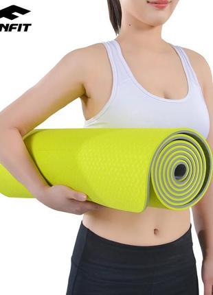 Коврик для йоги и фитнеса 183х61х0.8 см yoga mat premium