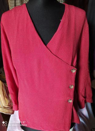 Mango блузка в нежный горошек р.46