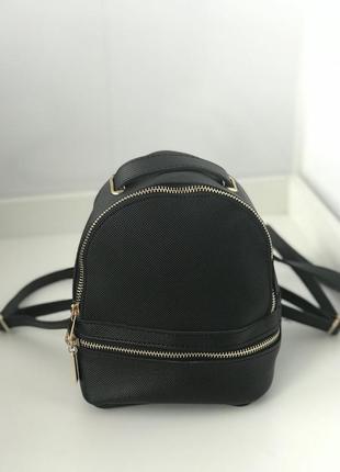 Маленький черный рюкзак под zara