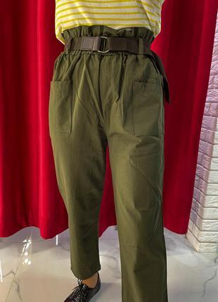 Коричневые брюки женские фасон - прямые