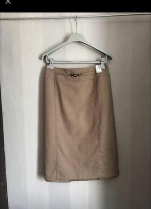 Шикарная шерстяная юбка карандаш