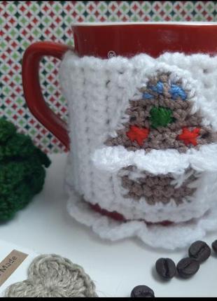 Чехол на чашку , зимняя сказка'