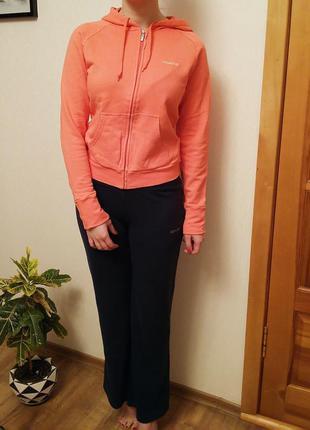Согреет вас! теплый женский спортивный костюм reebok на флисе серый ... f062a6f22f1