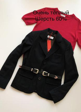 Классический пиджак из шерсти от немецкого бренда esprit