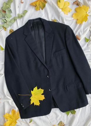 Чорний класичний шерстяний піджак