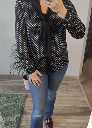 Блуза сорочка в горох