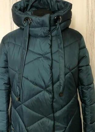 Зимнее пуховик, пальто,отличное качество,стильная модель больших размеров.