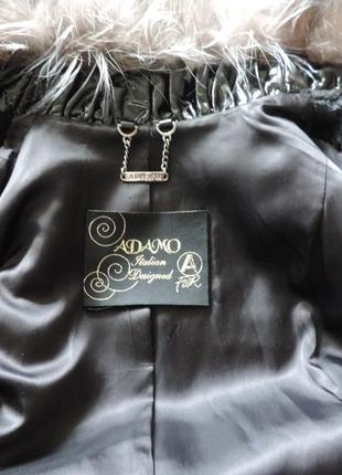 Натуральная норковая шуба с чернобуркой норка +чернобурка5